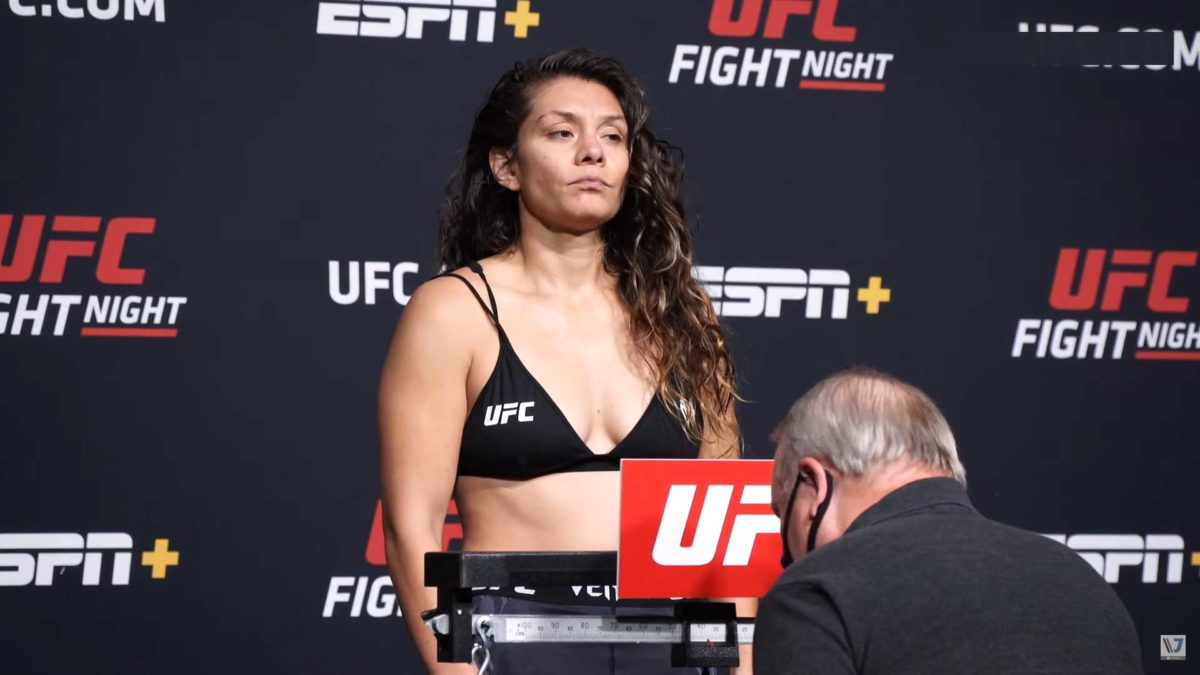 Nicco Montano weignt in for UFC Vegas 33