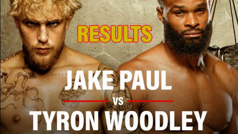 Jake Paul vs Tyron Woodley PPV Results, Live Updates Round by Round