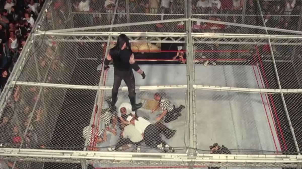Undertaker vs Mick Foley Hell in a Cell match