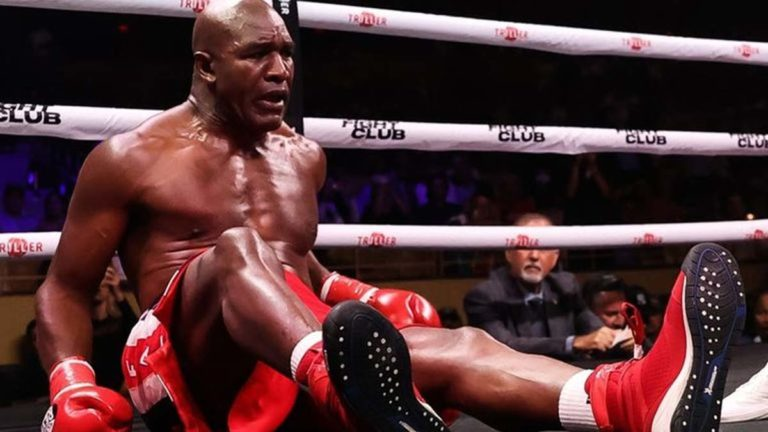 Evander Holyfield at Triller Boxing Field