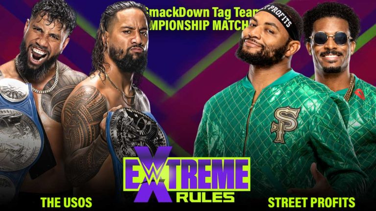 The Usos vs the Street Profits Announced for WWE Extreme Rules