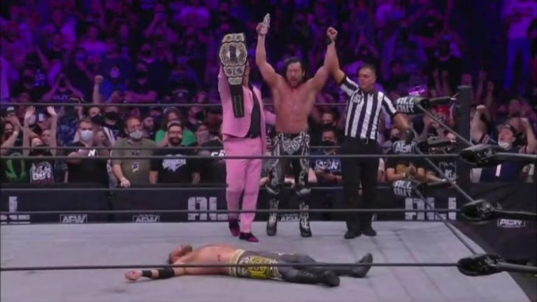 kenny omega defeats Christian Cage all out 2021