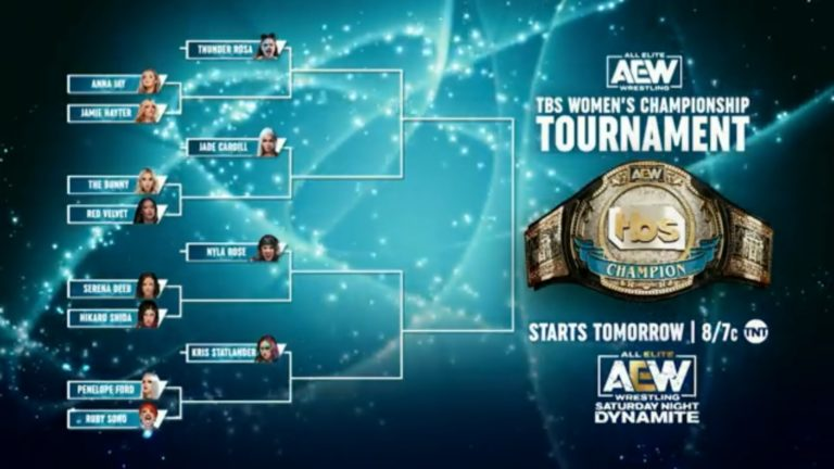 Brackets for TBS Women's Championship Tournament Revealed on AEW Rampage