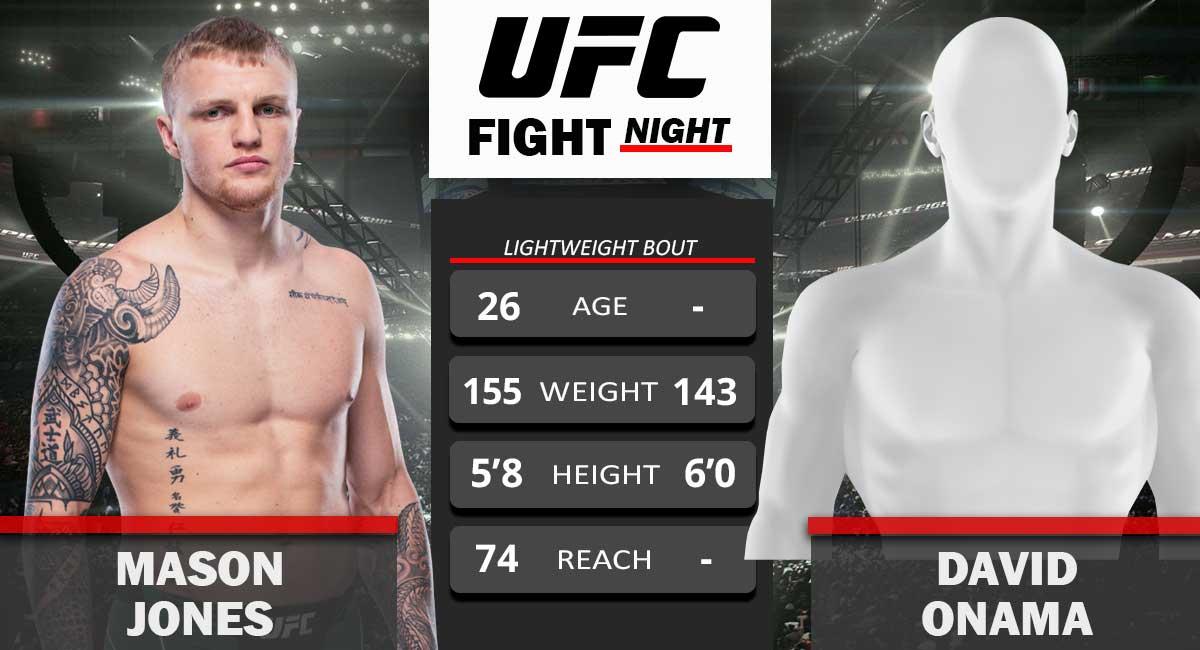 Mason Jones vs David Onama UFC Fight Night